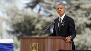 Hommage à Peres: la Maison Blanche raye Israël du discours d'Obama