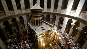 Restoration work starts at Jerusalem's Holy Sepulchre shrine