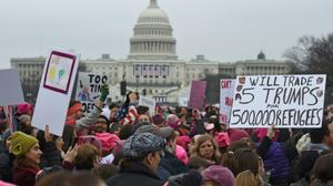 Worldwide women's marches draw millions in resistance to Trump