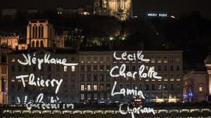 L'hommage lumière des Lyonnais aux victimes des attaques de Paris
