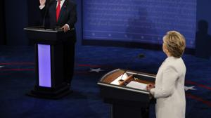 Fury at debate as Trump refuses pledge to respect a Clinton win