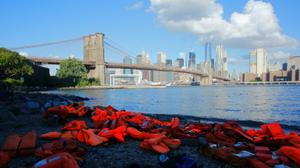 Brooklyn, London fill with life jackets as first-ever UN refugee summit convenes...