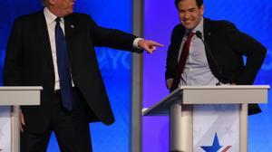 Rubio wilts, Trump strong in Republican debate