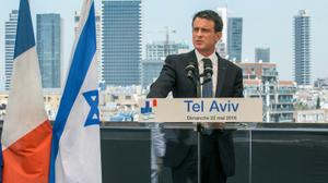 French PM visits Israel to push for peace plan
