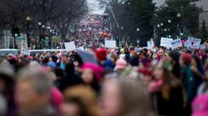 Half a million protesters flood Washington for women's march against Trump