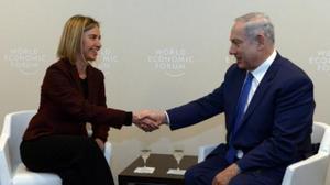 Netanyahu meets with Bill Cinton, talks peace with EU's Mogherini