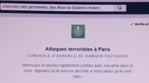 Attentats: 5 millions de personnes ont rassuré leurs proches via Facebook