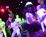 Children dance during an electronic dance music party at a night club in New York on October 26, 2014 ( Jewel Samad (AFP/File) )
