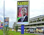 The landmark trip to US President Barack Obama's ancestral homeland of Kenya, where his father was born, is his first as president ( Tony Karumba (AFP) )