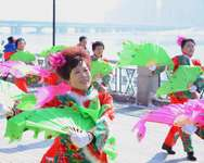 Members of a yangko dance team perform in Jilin, north-eastern China's Jilin province, on March 5, 2015 ( - (AFP/File) )