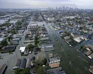 Flood waters from Hurricane Katrina in 2005, killed 1,500 people and caused $75 billion in damage to New Orleans ( Pool/AFP )