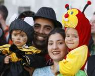 Purim celebration ( AFP )