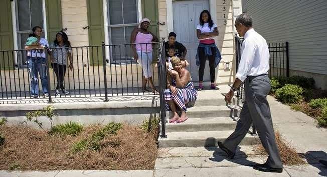 Obama à la Nouvelle Orléans ( AFP )
