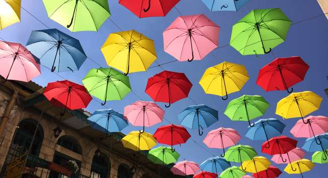 Umbrellas in Jerusalem ( Courtesy )