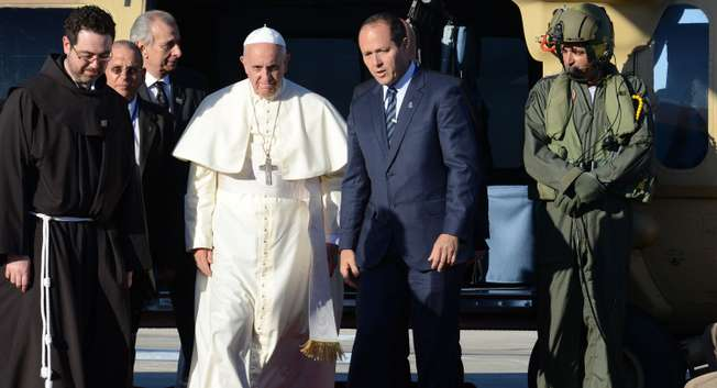 Pope Francis arrives to Jerusalem ( Kobi Gidon / LAM )