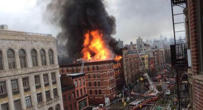 Incendie à New York ( Twitter )