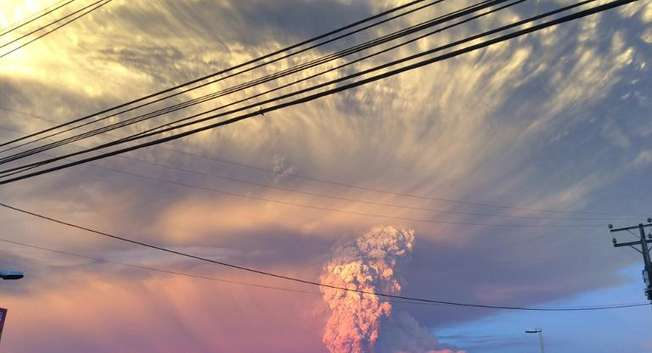 Southern Chile's Calbuco volcano erupted for the first time in nearly half a century, spewing a giant funnel of ash 10 kilometers (six miles) into the sky and prompting authorities to declare a state of emergency ( Giordana Schmidt (AFP) )