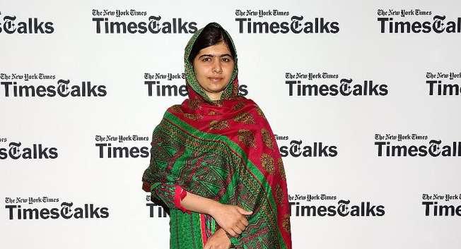 La jeune pakistanaise Malala Yousafzai blessée par des talibans à sa sortie de l'école en 2012 et devenue une militante pour la paix et l'éducation, lors d'une conférence à New York le 19 août 2014 ( Monica Schipper (Getty Images/AFP) )