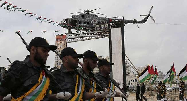 Hamas ceremony near Gaza City ( AFP )
