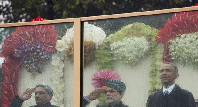 L'Inde célèbre le Republic Day sous la pluie avec Obama en invité d'honneur ( AFP )