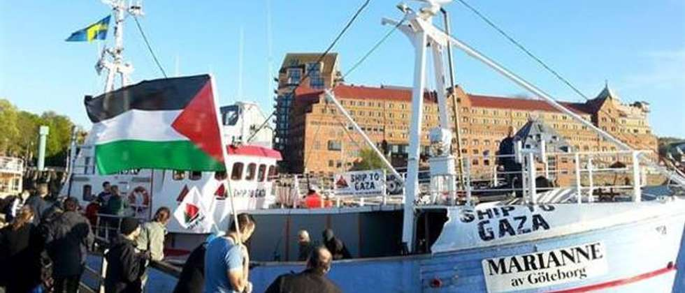 Gaza-bound Marianne in Greece before attempt to sail to Gaza (Twitter)