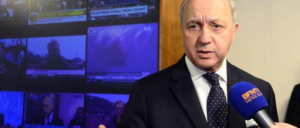 Le ministre français des Affaires étrangères Laurent Fabius le 25 mars 2015 à Paris (Bertrand Guay (AFP))