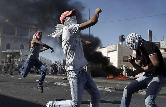 East Jerusalem riots 2.7.2014 (AFP)