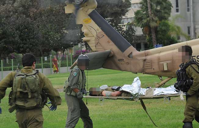 Israeli woman commander injured in shooting from Egypt, October 2014 (Ynet/Haim Hornstein)