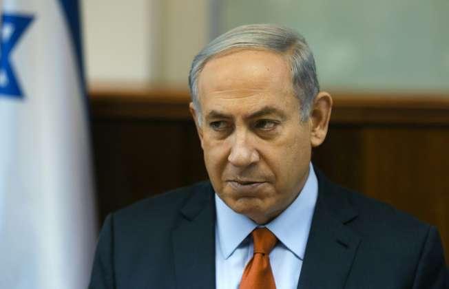 Le premier ministre israélien Benjamin Netanyahu dans son bureau, le 28 juin 2015 à Jerusalem (Pool (POOL/AFP))