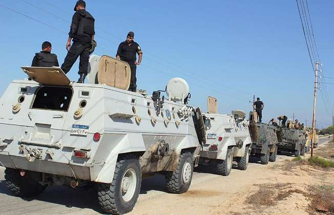 File picture shows Egyptian security forces in the northern Sinai peninsula (AFP/File)