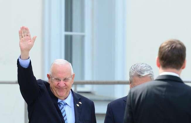 الرئيس الاسرائيلي رؤوفين ريفلين في برلين في 11 ايار/مايو 2015 ( جون ماكدوغال (اف ب/ارشيف) )