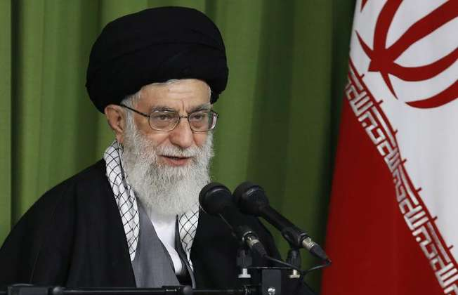 Iran's Supreme Leader Ayatollah Ali Khamenei speaks during a ceremony on the occasion of Iran's national nuclear day in Tehran on April 9, 2014 (HO (Khamenei.Ir/AFP/File))
