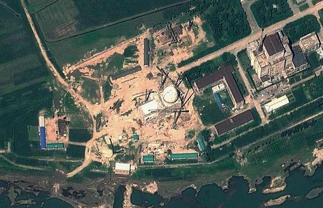 صورة بالاقمار الاصطناعية لمفاعل بيونغيون النووي (ا ف ب/ارشيف)