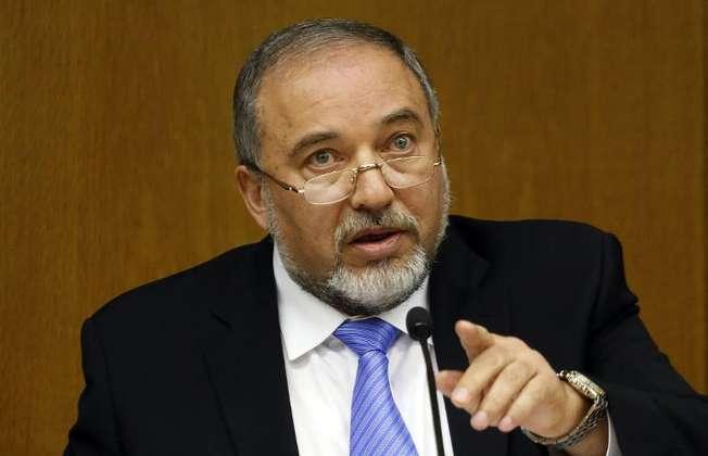 Israeli Foreign Minister Avigdor Lieberman gestures during a press conference at the Knesset in Jerusalem on July 7, 2014 (Gali Tibbon (AFP/File))