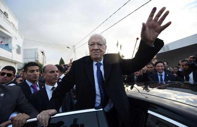 Le candidat à la présidentielle du parti anti-islamiste Nidaa Tounès, Béji Caïd Essebsi, le 21 décembre 2014 à Tunis (Fethi Belaid (AFP))