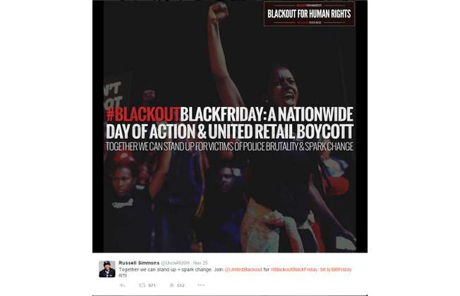 US campaign calling Americans not to spend money on Black Friday amid Ferguson's injustice (Twitter)