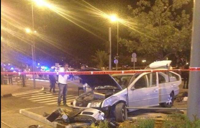 Suspected terrorist attack in Jerusalem, October 22 2014 (Twitter/Israeli police)