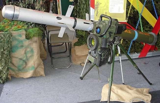 Missile antichars Spike Israélien (Wikipedia)
