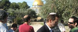 Israeli MK Moshe Feiglin visiting Temple Mount, Jerusalem, 20.4.2014 (The Temple Mount Faithful)
