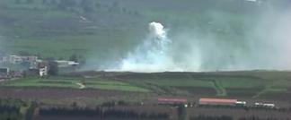الرد الاسرائيلي على العملية الامنية على الحدود الشمالية ( REUTERS/Baz Ratner )