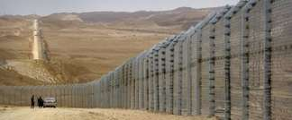 The border fence along Israel's border with Egypt near the Red Sea resort town of Eilat (AFP)