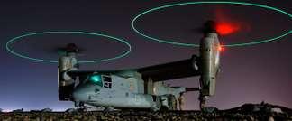 Refueling of Bell Osprey V-22 at night in Iraq (Wikipedia)