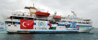 An undated image taken from the Free Gaza Movement website on May 28, 2010, shows the Turkish ship Mavi Marmara which took part in the Freedom Flotilla to the Gaza Strip (Free Gaza Movement/AFP/File)
