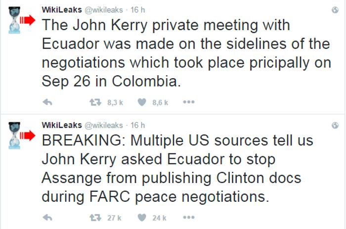 Compte Twitter WikiLeaks