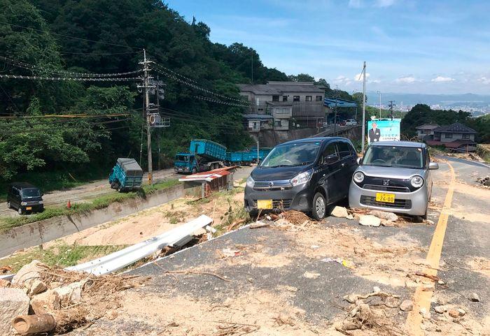 منطقة منكوبة في اليابان تصوير: اي بي