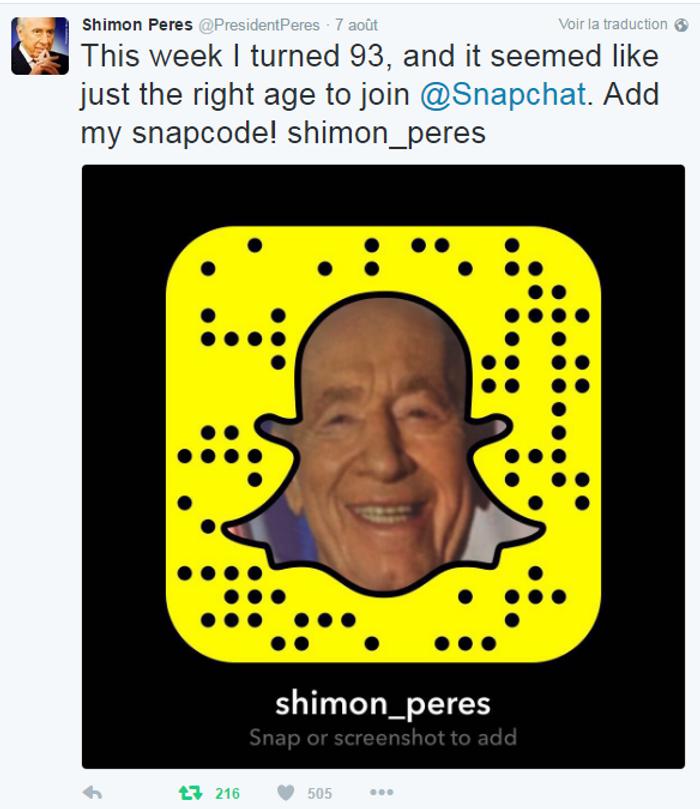 Twitter Shimon Peres