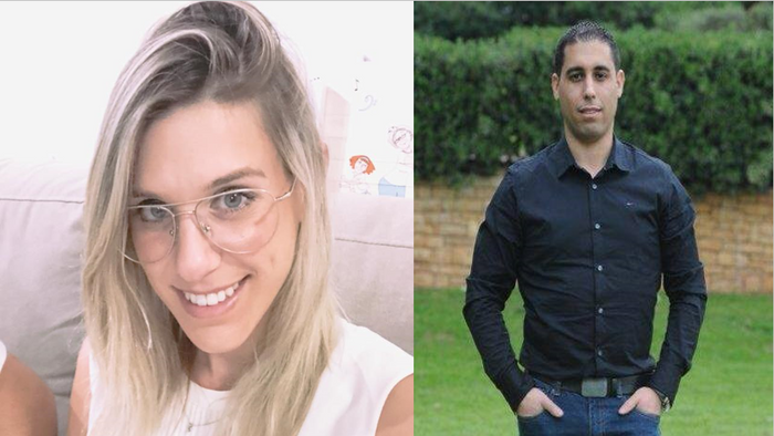 Kim Levengrond Yehezkel, 28, and Ziv Hajbi, 33, were identified as the two victims of a shooting attack in the Barkan industrial zone in the northern West Bank, October 7, 2018