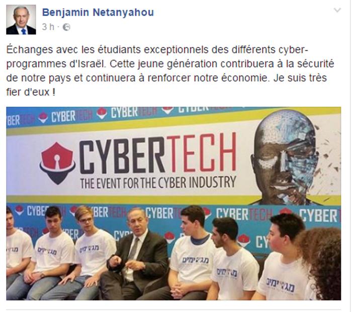 Page francophone de Benyamin Netanyahou