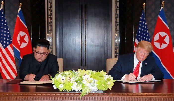 - (KCNA VIA KNS/AFP)