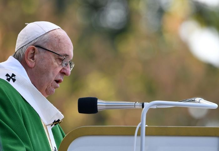 Pope visits ex-KGB headquarters in Lithuania